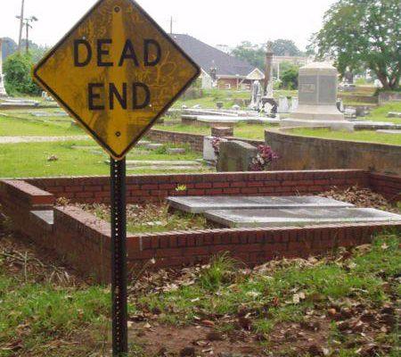 Cemetery Deadend Sign