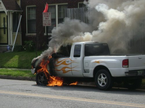 Fire Truck on Fire