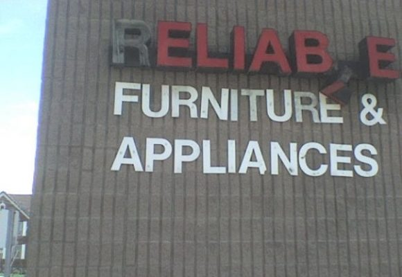 Reliable Furniture Sign