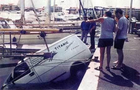 Titanic Car in Water